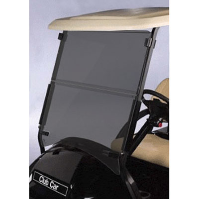 "Tinted Club Car Precedent Folding Windshield - 1/4"" (Fits 2004-Up)"