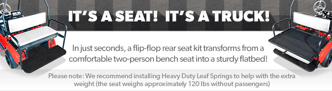 Our flip-flop rear seats transform from a comfortable bench seat to a sturdy flatbed in just seconds