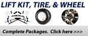 Complete Golf Cart Lift Kit, Tire, & Wheel Packages!