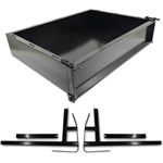 GTW Black Steel Cargo Box Kit For Yamaha G29/ Drive (Fits 2007-2016)