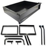 GTW Black Steel Cargo Box Kit For Club Car Precedent (Fits 2004-Up)