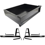 GTW Black Steel Cargo Box Kit For Club Car DS (Fits 2000-Up)