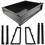 GTW Black Steel Cargo Box Kit For Yamaha Drive2 (Fits 2016-Up)