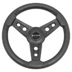 Gussi Lugana Black Steering Wheel For All Yamaha Models