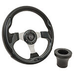 E-Z-GO Carbon Fiber Rally Steering Wheel Black Adaptor Kit (Fits 1994.5-Up)