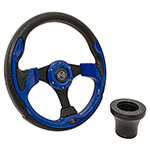 E-Z-GO Blue Rally Steering Wheel Black Adaptor Kit (Fits 1994.5-Up)