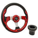 E-Z-GO Red Rally Steering Wheel Black Adaptor Kit (Fits 1994.5-Up)
