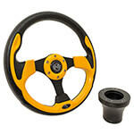 E-Z-GO Yellow Rally Steering Wheel Black Adaptor Kit (Fits 1994.5-Up)