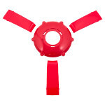 Solid Red Center Cap & Spoke Set For Gussi Giazza Steering Wheel