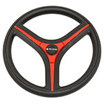 Gussi Brenta Black/ Red Steering Wheel for Club Car Precedent (Fits 2004-Up)