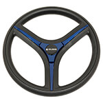 Gussi Brenta Black/ Blue Steering Wheel for Club Car Precedent (Fits 2004-Up)