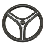 Gussi Brenta Black/ Silver Steering Wheel for All Club Car Precedent Models (Fits 2004-Up)