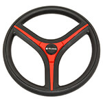 Gussi Brenta Black/ Red Steering Wheel for All E-Z-GO TXT /  RXV Models