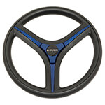 Gussi Brenta Black/ Blue Steering Wheel for All E-Z-GO TXT /  RXV Models