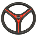 Gussi Brenta Black/ Red Steering Wheel (Models Yamaha G16-Drive 2)