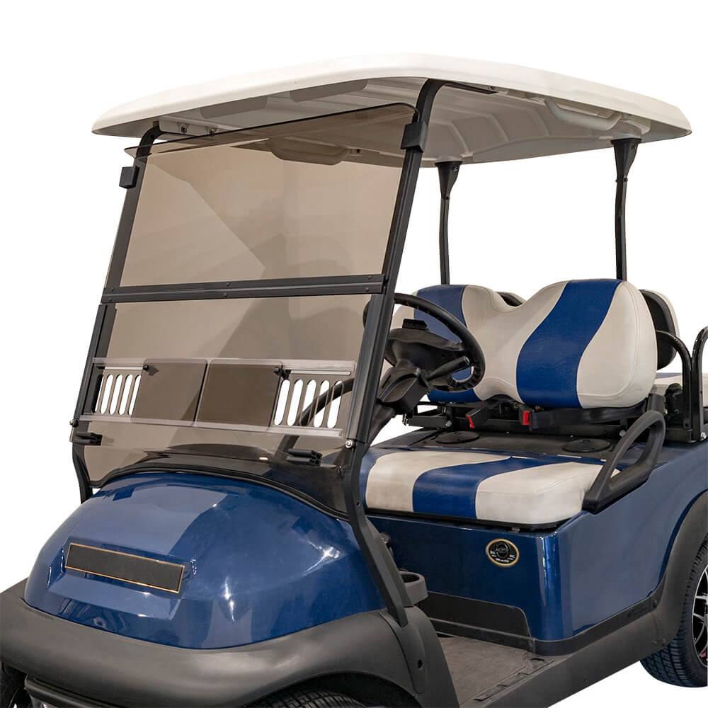 Tinted Club Car Precedent Golf Cart Fold-Down Windshield with Vents |  BuggiesUnlimited.com