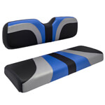 Red Dot® Blade Front Seat Covers for E-Z-GO TXT/ T48/ RXV - Alpha Blue/ Silver/ Black Carbon Fiber