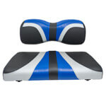 Red Dot® Blade Front Seat Covers for Yamaha Drive/ Drive2 - Alpha Blue/ Silver/ Black Carbon Fiber