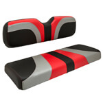 Red Dot® Blade Front Seat Covers for Club Car DS - Red /  Silver /  Black Carbon Fiber
