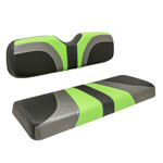 Red Dot® Blade Front Seat Covers for E-Z-GO - Lime Green/ Charcoal Gear/ Black Carbon Fiber