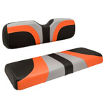Red Dot® Blade Front Seat Covers for Club Car DS - Gray /  Orange /  Black Carbon Fiber