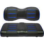 Buggies Unlimited Blue/ Carbon Prism Seat Covers for Club Car