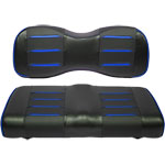 Buggies Unlimited Blue/ Carbon Prism Seat Covers for GTW Mach Series Rear Seat Kits