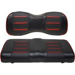 Buggies Unlimited Red/ Carbon Prism Seat Covers for GTW Mach Series Rear Seat Kits