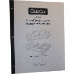 Electric Club Car DS 36-Volt Service Manual (Fits 1986-1991)