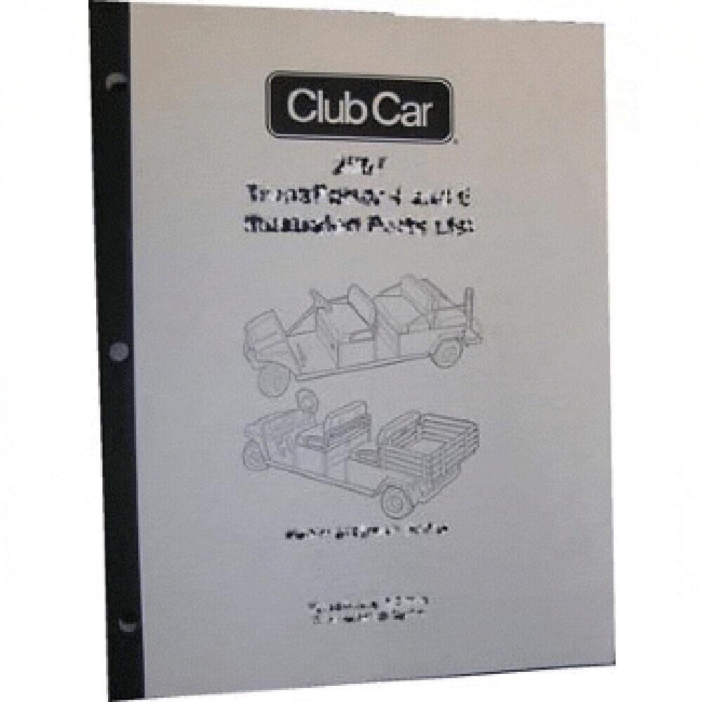 club car parts manual  fits 1998 1999