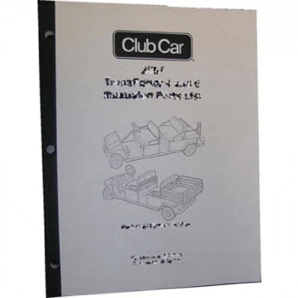 Club Car Ds Parts Manual  Fits 2001