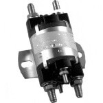 12-Volt 6-Terminal Silver Solenoid (Universal Fit)