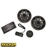 100W Weatherproof Stereo Amplified Controller with Bluetooth Powered By Kicker®