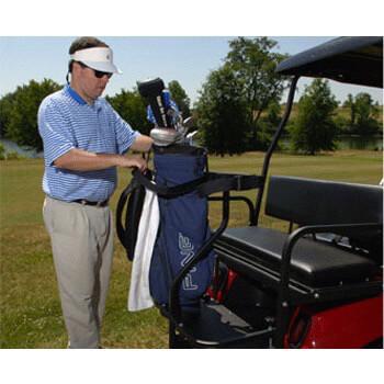Golf cart bag rack 4 passenger step plate