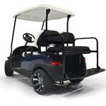 GTW Club Car Precedent Black Rear Flip Seat (Fits 2004-Up)