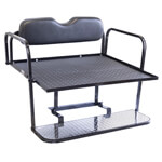 GTW Aluminum Club Car DS Black Rear Flip Seat