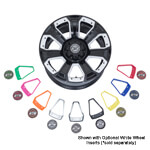 14 inch GTW Nemesis Black Wheel with Optional Color Inserts (3:4 Offset)