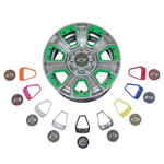12 inch GTW Nemesis Metallic Chrome Wheel with Optional Color Inserts (3:4 Offset)