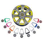 14 inch GTW Nemesis Metallic Chrome Wheel with Optional Color Inserts (3:4 Offset)