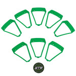 Green Inserts for GTW Nemesis 14x7 Wheel