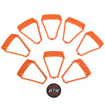 Orange Inserts for 14 inch GTW Nemesis Wheels