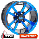 "GTW Storm Trooper 12"" Blue/ Black Wheel (3:4 Offset)"