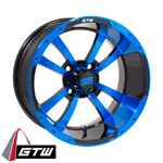 GTW Storm Trooper 14 inch Blue & Black Wheel (3:4 Offset)