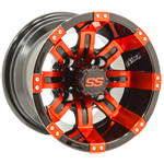 GTW Tempest 10 inch Red & Black Wheel (3:4 Offset)