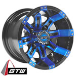 GTW Tempest 10 inch Blue & Black Wheel (3:4 Offset)