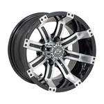 GTW Tempest 12 inch Machined & Black Wheel (3:4 Offset)
