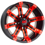 GTW Tempest 12 inch Red & Black Wheel (3:4 Offset)