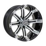 GTW Tempest 14 inch Machined & Black Wheel (3:4 Offset)