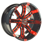 GTW Tempest 14 inch Red & Black Wheel (3:4 Offset)
