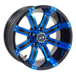 GTW Tempest 14 inch Blue & Black Wheel (3:4 Offset)